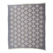 Wonga Road - Stitches Navy Hammam B/Towel & Throw 150x170cm