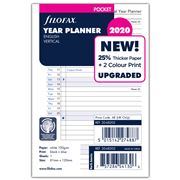 Filofax - Pocket Vertical Year Planner 2020