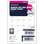 Filofax - Pocket Month On Two Pages 2020 Diary Refill