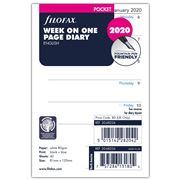 Filofax - Pocket Week On One Page 2020 Diary Refill