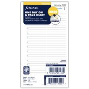 Filofax - Personal One Day On A Page 2020 Diary Refill