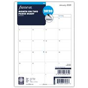 Filofax - A5 Month On Two Pages 2020 Diary Refill
