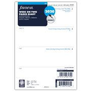 Filofax - A5 Week On Two Pages 5 Languages 2020 Dairy Refill