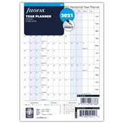 Filofax - A5 Horizontal Year Planner 2021 Refill