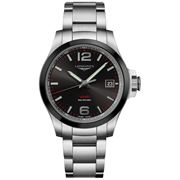 Longines - Conquest V.H.P. Black Dial & S/Steel Watch 41mm
