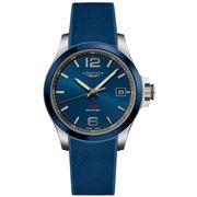 Longines - Conquest V.H.P. Blue Dial/Rubber Strap Watch 41mm
