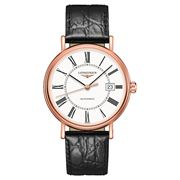 Longines - Presence White Dial & Roman Leather Watch 40mm