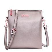 Serenade Leather - Courtney Vegan Leather Crossbody Bag Pewt