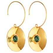 Sylvia Toledano - Dancing Curve Disc Earrings Malachite
