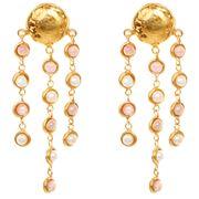 Sylvia Toledano - Rain Drops Rhod. & Pearl Clip-On Earrings