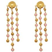 Sylvia Toledano - Rain Drops Clip-On Earrings R & Gold