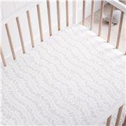 Sheridan - Adorah Cot Fitted Sheet Counting Sheep Grey