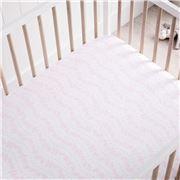 Sheridan - Adorah Cot Fitted Sheet Counting Sheep Pink