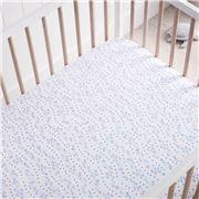 Sheridan - Adorah Cot Fitted Sheet Counting Sheep Sea Blue