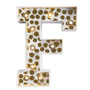 Delight Decor - Little Paper Letter F