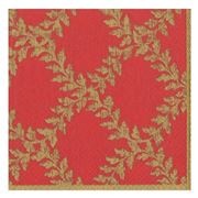 Caspari - Acanthus Trellis Lunch Napkins Red Set 20pce