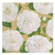 Caspari - Camellia Garden Triple-Ply Gold Napkins 20pce