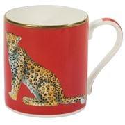 Halcyon Days - Twin Leopard Mug Red