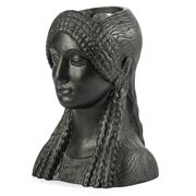 Sophia - Kore Head Vase Metallic Black