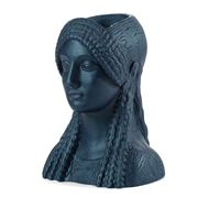 Sophia - Kore Head Vase Metallic Navy