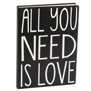 Eccolo - World Traveler Journal: Black All You Need Is Love