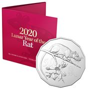 RA Mint - 2020 Lunar Year of the Rat 50c Uncirculated Coin