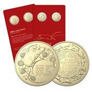 RA Mint -2020 Lunar Year of the Rat $1 Uncirc. Coin Set 2Pce