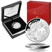 RA Mint -2020 Lunar Year of the Rat $5 Silver Proof Coin Set