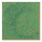 Caspari - Gilded Majolica Green Lunch Napkins 20pce