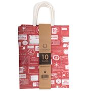 Vandoros - Christmas Post Bag Red/White Set 10pce 21x27x11cm