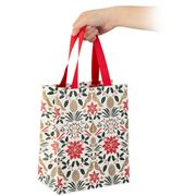 Vandoros - Poinsettia Gift Bag Red  20x25x12cm