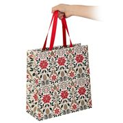 Vandoros - Poinsettia Gift Bag Red Large 31.5x33x14cm