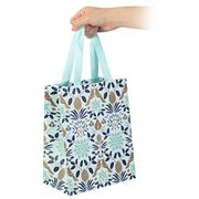 Vandoros - Poinsettia Gift Bag Icy Blue Small 20x25x12cm