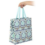 Vandoros - Poinsettia Gift Bag Icy Blue Large 31.5x33x14cm