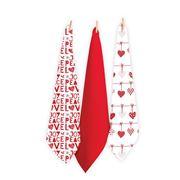 Rans - Tea Towel Set Red 3pce