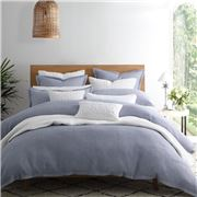 Private Collection - Dash Chambray Queen Quilt Cvr. Set 3pce