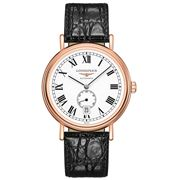 Longines - Presence Rose Gold & Leather Strap Watch 40mm