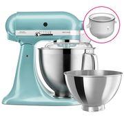 KitchenAid - KSM177 Azure Blue Stand Mixer w/Ice Cream Bowl