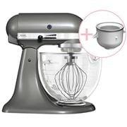 KitchenAid - KSM177 Medallion Silver Mixer w/Ice Cream Bowl