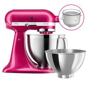 KitchenAid - KSM177 Raspberry Ice Mixer w/Ice Cream Bowl
