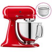 KitchenAid - KSM180 100 Year Mixer P/Red w/Ice Cream Bowl