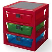 LEGO - 3 Drawer Storage Rack System Red