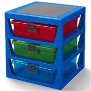 Lego - 3 Drawer Storage Rack System Blue