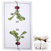 Two's Company - Farm-To-Table Tea Towel In Crate Radish