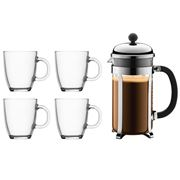 Bodum - Chambord Coffee Maker with Mugs 5pce