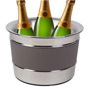 Giobagnara - Ocean Champagne S/S Bucket Calfskin Smoke Large