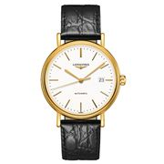 Longines - Presence Yellow Gold & Leather Strap Watch 40mm
