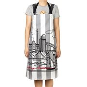 Eastbourne Art - Sydney Grey Stripe Apron