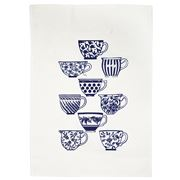 Eastbourne Art - Blue China Tea Towel