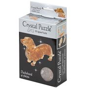 Games - 3D Crystal Jigsaw Puzzle Brown Dachshund Crystal